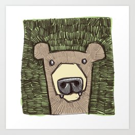 dack the bear Art Print