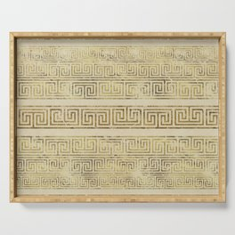 Greek Meander Pattern - Greek Key Ornament Serving Tray