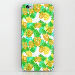 Watercolor Pineapples Tropic iPhone Skin