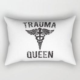 Trauma Queen Nursing Rectangular Pillow