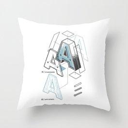 The Exploded Alphabet / A Throw Pillow