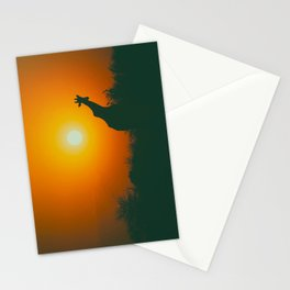 Lonely Sunset Giraffe Stationery Cards