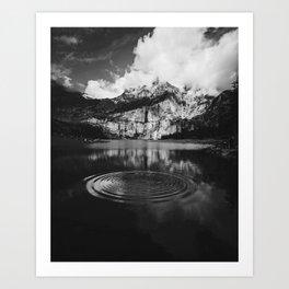 Ripple (Black and White) Art Print