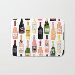 Wine & Champagne Bottles Bath Mat