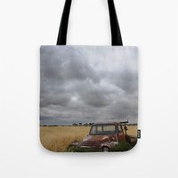 truck Tote Bags featuring Truck by Adam Wood