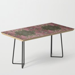 Red Shiso Warm Tones Pattern Coffee Table