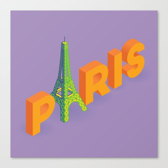 a is for eiffel Canvas Print
