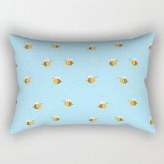 Kawaii Buzzy Bumble Bees Rectangular Pillow