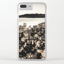 Voyeuristic 1378 Vancouver Cityscape English Bay Twilight Clear iPhone Case