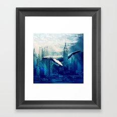 Blue Whale in NYC Framed Art Print