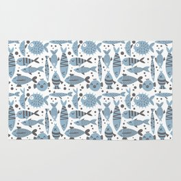 All kinds of fishes Rug