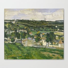 Stolen Art - View of Auvers-sur-Oise by Paul Cezanne Canvas Print