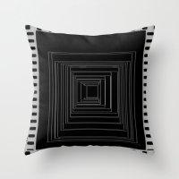 noir Throw Pillows featuring Noir by My own little world
