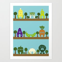 Vege House Art Print