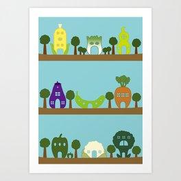 Vege House Art Print