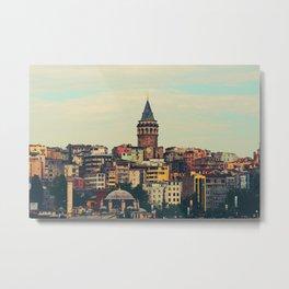 Istanbul skyline Metal Print