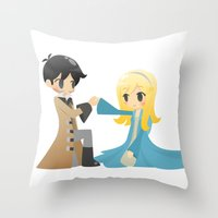 captain swan Throw Pillows featuring OUAT - Captain Swan by Choco-Minto