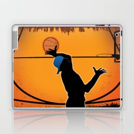 Basketball Player Silhouette Laptop & iPad Skin