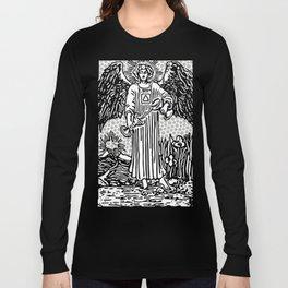 Modern Tarot Design - 14 Temperance Long Sleeve T-shirt
