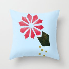 Flowers Can Be Buoyant Throw Pillow