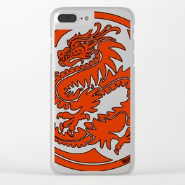 Tracy Queen - Crest of the Dragon Clan Clear iPhone Case