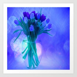A Blue Bloom for Spring Art Print