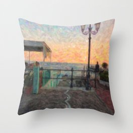 Magic atmosphere Throw Pillow