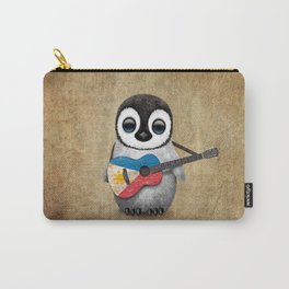 Baby Penguin Playing Filipino Flag Acoustic Guitar Carry-All Pouch