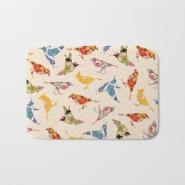 Vintage Wallpaper Birds Bath Mat