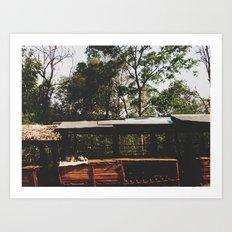 Tribal Villager's Stall Art Print