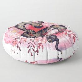 Black Snake Floor Pillow