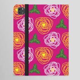 Bright pink floral iPad Folio Case