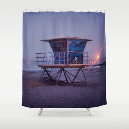 The Blue Hour at Avila Beach Shower Curtain