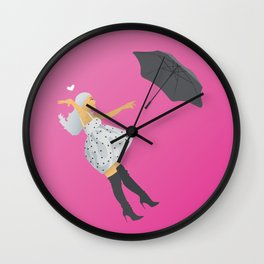 No Tears Left To Cry Ariana - Pink Wall Clock