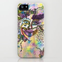 Abstract Face iPhone Case