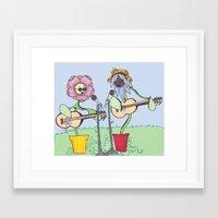 woodstock Framed Art Prints featuring Woodstock Garden by Michele Baker