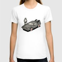 delorean T-shirts featuring Stormtrooper and his Delorean by Vin Zzep