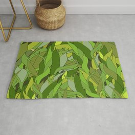 Lucky Bamboo in Porcelain Bowl Rug