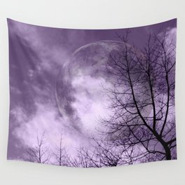 Purple Night  - JUSTART © Wall Tapestry