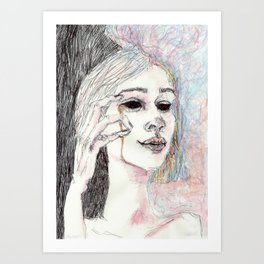 The thought Art Print
