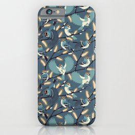 Golden-crowned Kinglets in a Pussy Willow (Dusk) iPhone Case