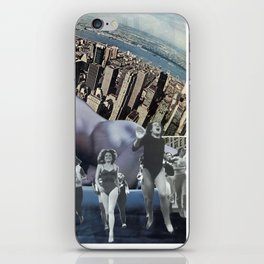 In a New York Minute  - Vintage Collage iPhone Skin