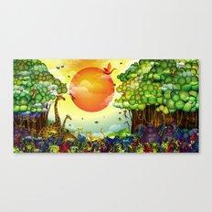 Jungle of colors Canvas Print