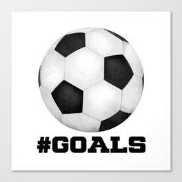 #Goals Canvas Print