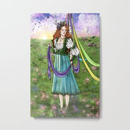 Beltane May Day Spring Equinox Metal Print