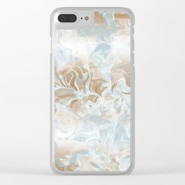 Watercolour in Blue Gold Clear iPhone Case