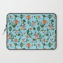 Fennec Foxes in Blue Laptop Sleeve