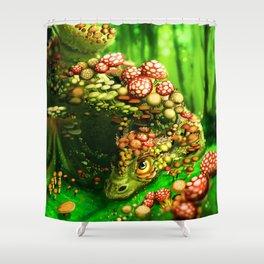 Mushroom dragon Shower Curtain