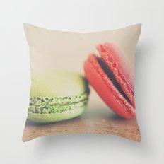 pistachio & strawberry ... Throw Pillow
