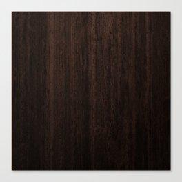 Very Dark Coffee Table Wood Texture Canvas Print